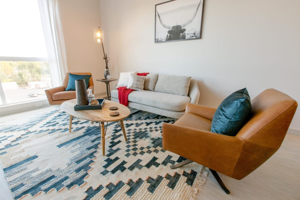 Stylish Interiors at Oxford Station Apartments in Englewood