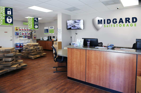 Office at Midgard Self Storage in Wilmington, North Carolina