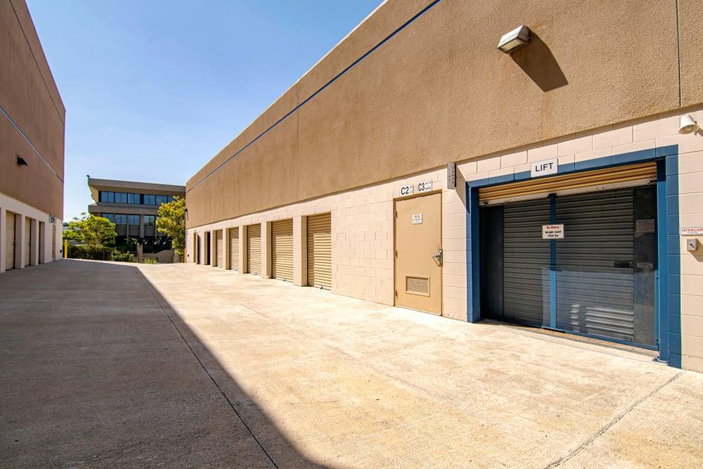 Exterior storage units at Sorrento Valley Self Storage in San Diego, CA