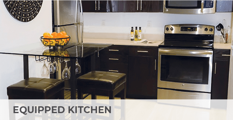 Fully equipped kitchens at Citron in Ventura, California