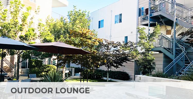 Inviting outdoor lounge at Citron in Ventura, California
