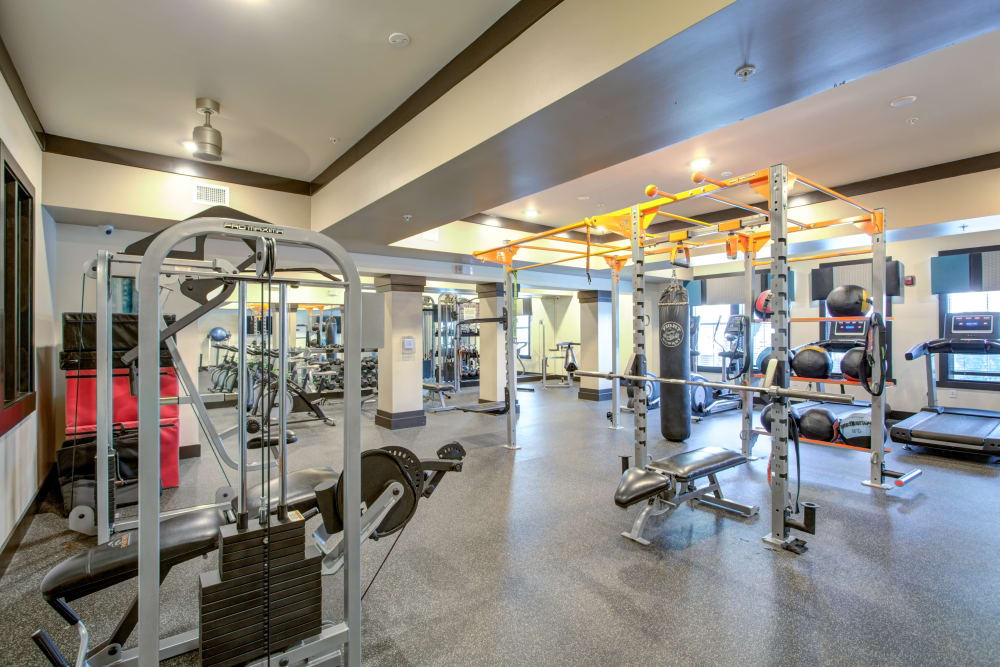 Interior fitness center view at Integra Cove
