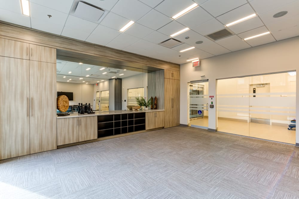 Conference room amenities at Main Street Apartments in Rockville, Maryland