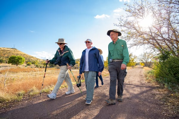 Residents from Touchmark at Harwood Groves in Fargo, North Dakota hiking