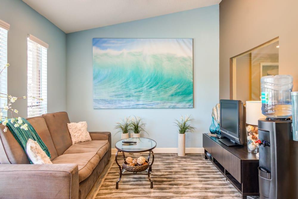 Well Decorated Living Room at Arbors at Orange Park in Orange Park, FL