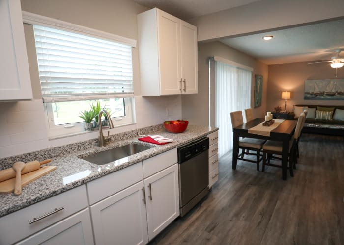 Renovated kitchen in Ridgeview luxury apartments