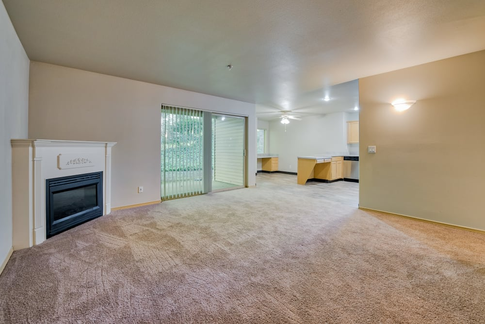 Living Room at Aravia Apartments in Tacoma, Washington