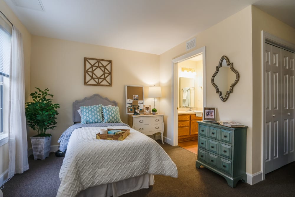 Model studio unit at St. Augustine Plantation  in Tallahassee, Florida