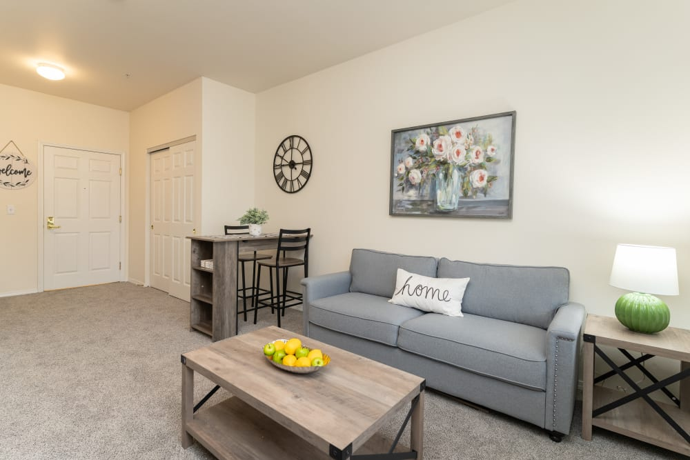 Apartment lounge at King's Manor Senior Living Community