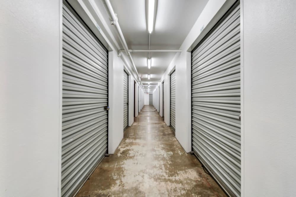 Clean hallways at Encinitas Self Storage