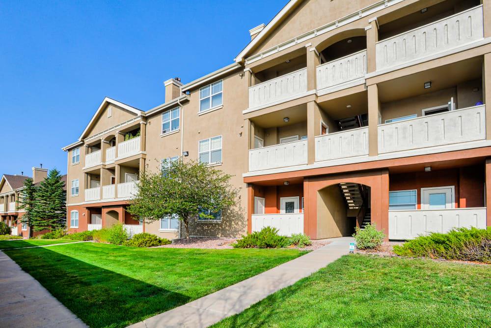 Exterior at Bella Springs Apartments in Colorado Springs, Colorado