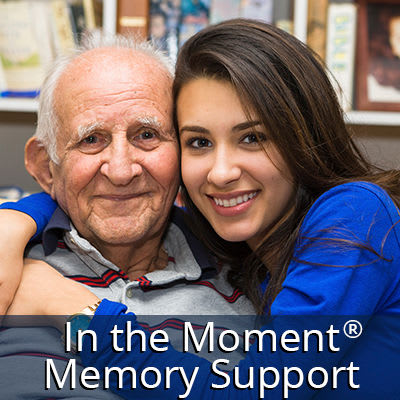 Learn more about In the Moment Memory Care at Regency Palms Colton in Colton, California