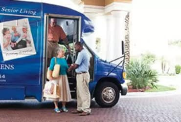 Sumter Senior Living residents can get around by private bus