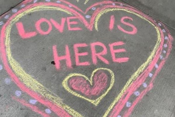 A chalk drawing near Merrill Gardens.