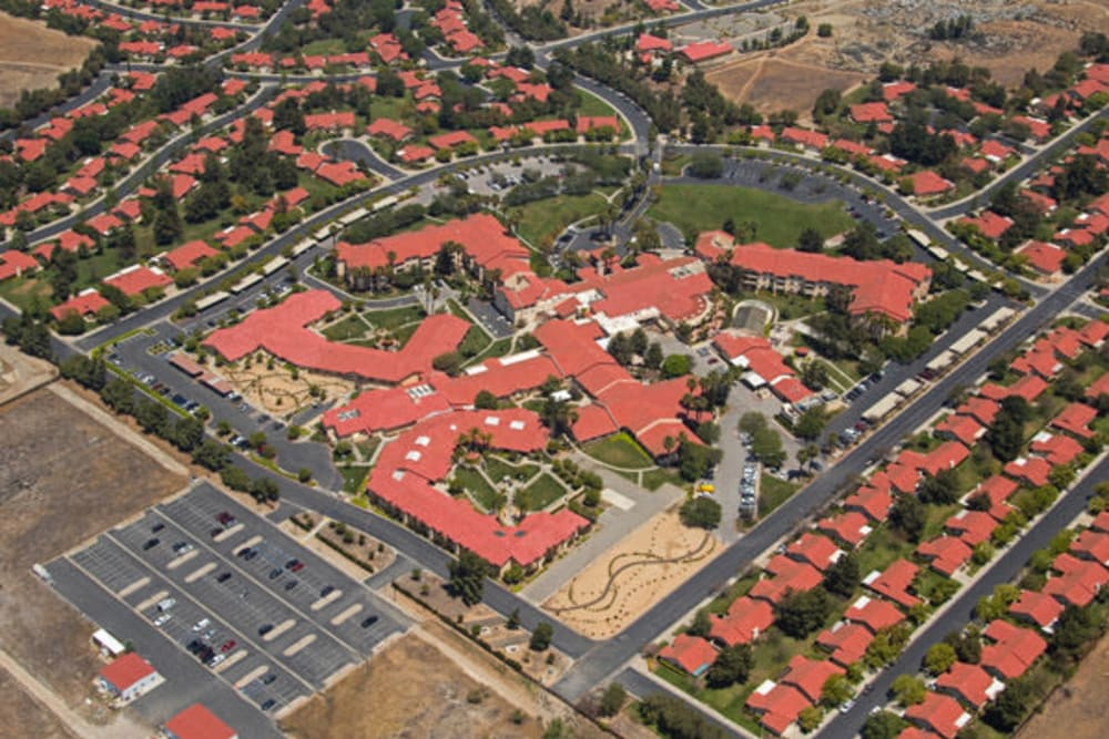 Aerial overview at Westmont Village in Riverside, California
