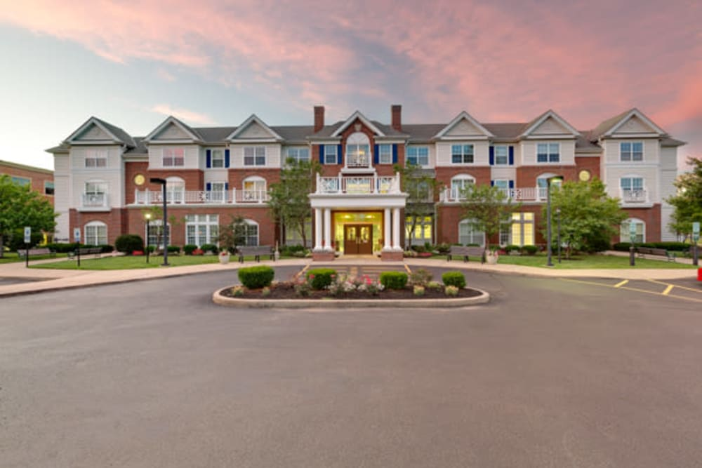 front entrance at Carriage Court of Kenwood in Cincinnati, Ohio.