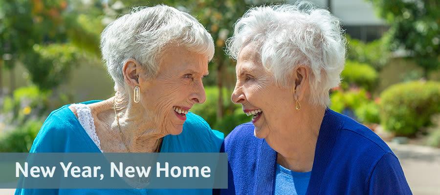Ladies laughing together at Merrill Gardens at Tacoma