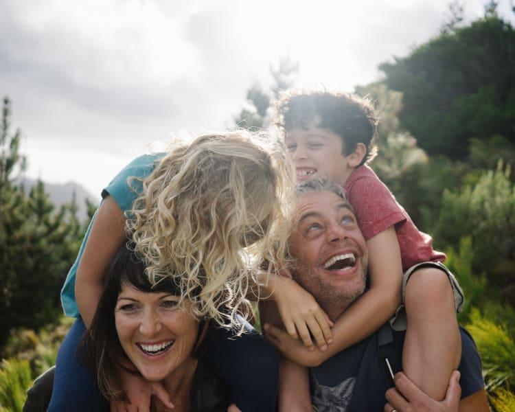 Resident family enjoying the outdoors near Sofi Irvine in Irvine, California
