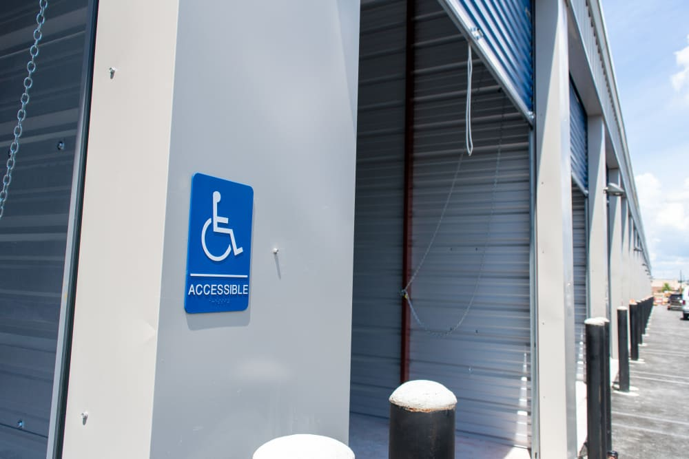 Wheelchair accessible storage at Atlantic Self Storage in Jacksonville, Florida