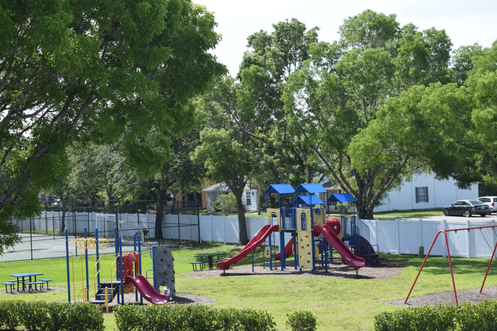 Our Naples apartments has a playground for your little ones