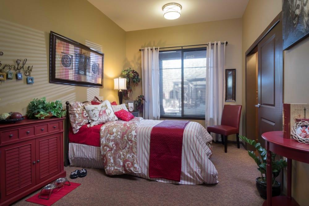 A spacious bedroom at Avenir Memory Care at Scottsdale in Scottsdale, Arizona