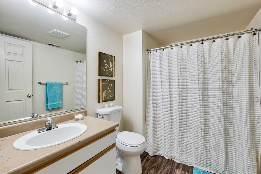 Bathroom at Arbor Crossing Apartments in Boise, ID