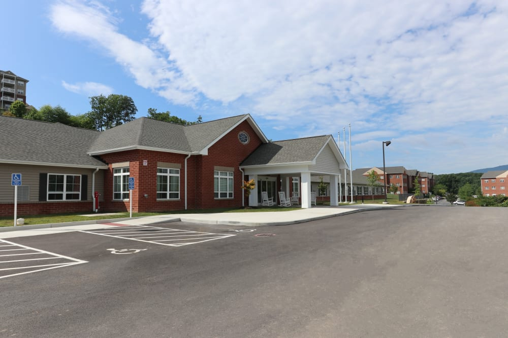 The building facade of The Harmony Collection at Roanoke - Memory Care in Roanoke, Virginia