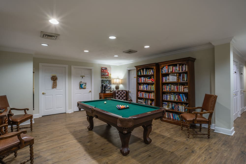 Billiard room at St. Augustine Plantation in Tallahassee, Florida