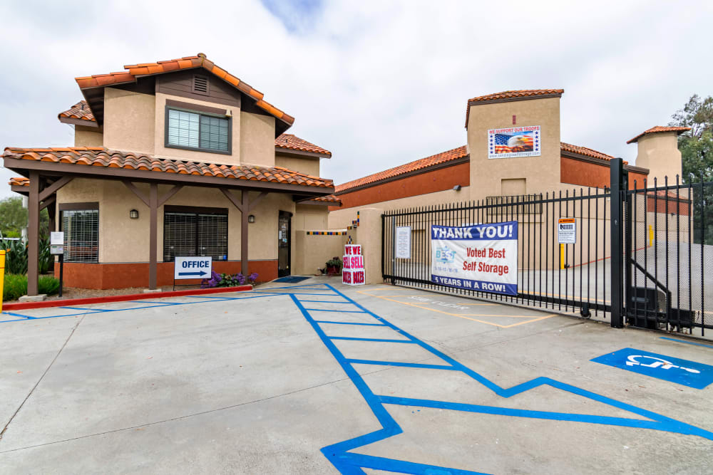 Front gate at North County Self Storage