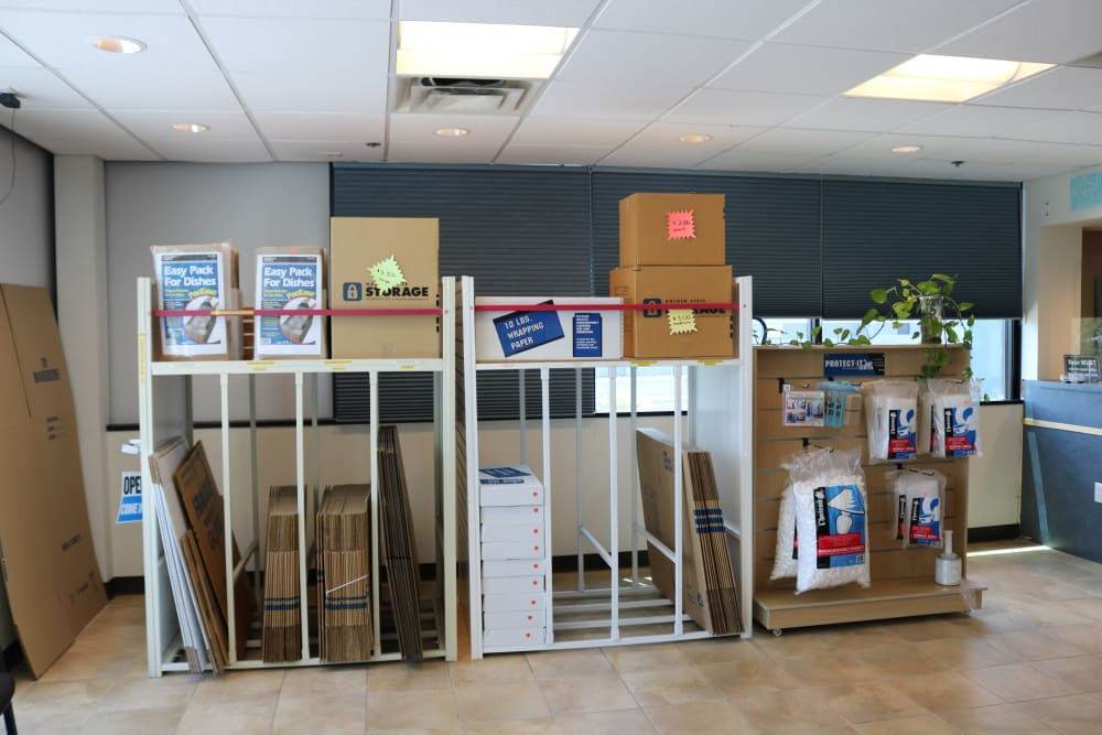 Moving supplies available at Golden State Storage - Tropicana in Las Vegas, Nevada