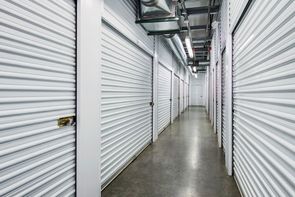Clean interior hallways at Butterfield Ranch Self Storage