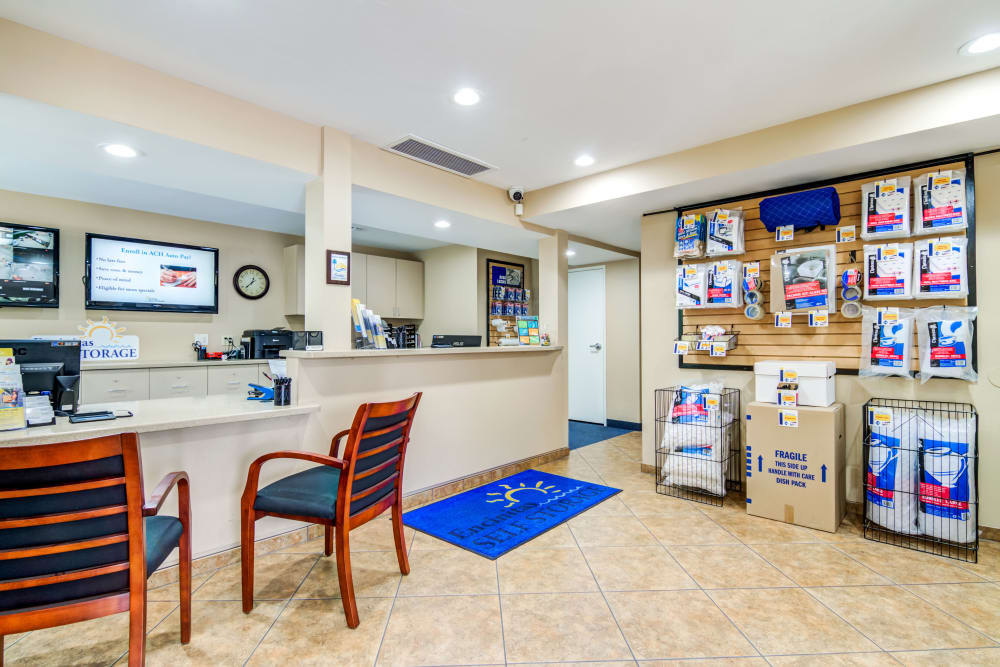 Interior office at Encinitas Self Storage