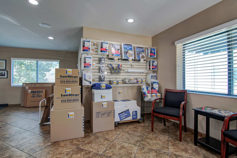 Sorrento Valley Self Storage is a one-stop shop for all of your packing supplies.