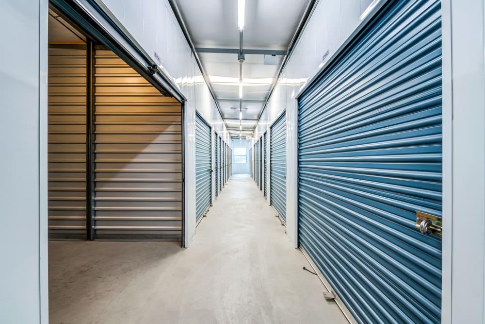 Clean interior hallways at Golden Triangle Self Storage