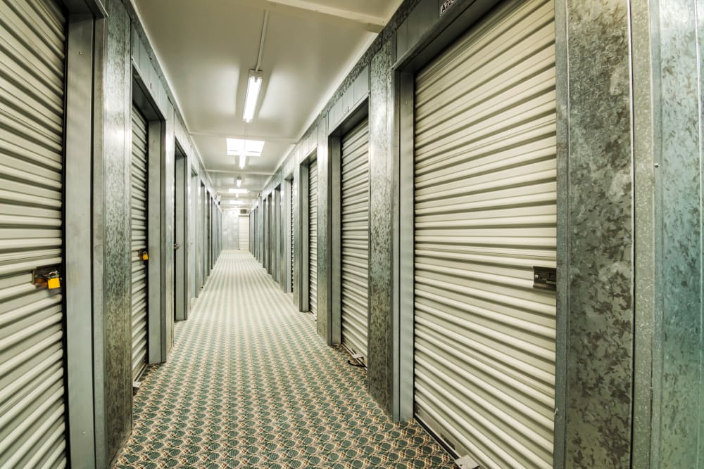 Interior hallway at Sorrento Mesa Self Storage.