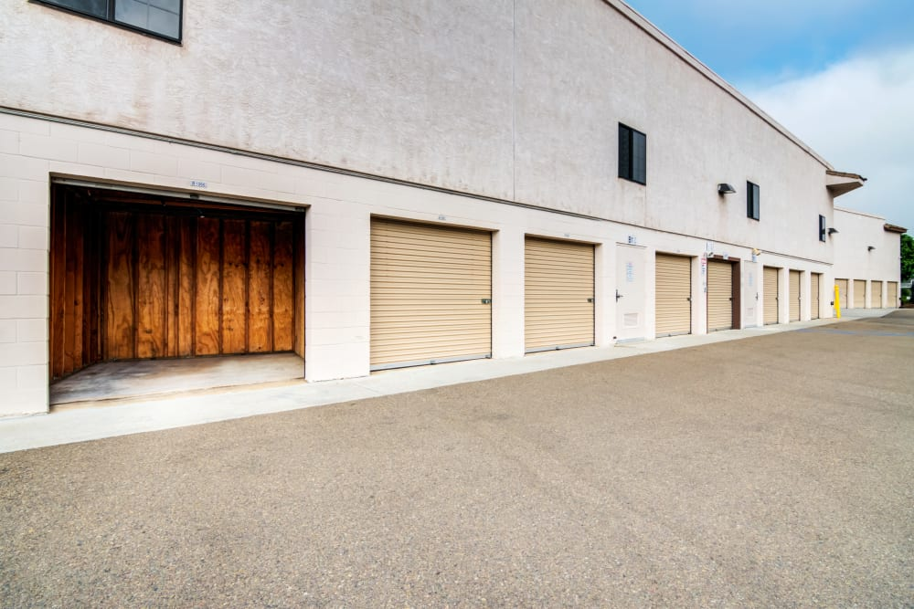 Exterior units at Poway Road Mini Storage