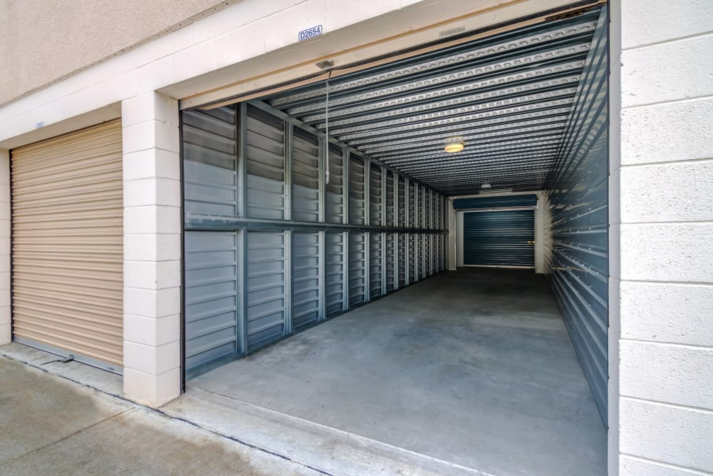 Large exterior drive-up units at Golden Triangle Self Storage