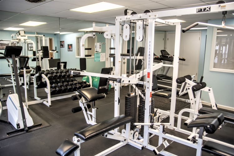 Westminster Place Apartments fitness center in Liverpool