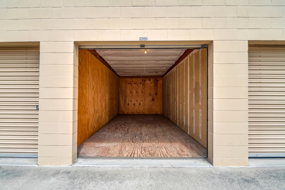 Large exterior units at North County Self Storage