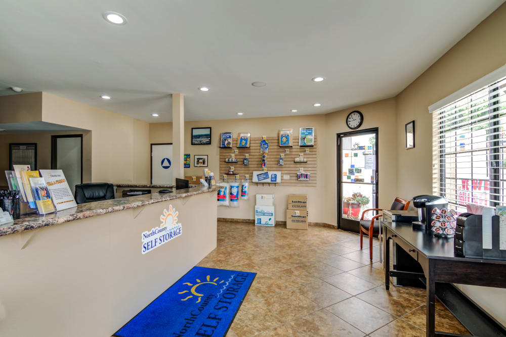 Leasing office at North County Self Storage