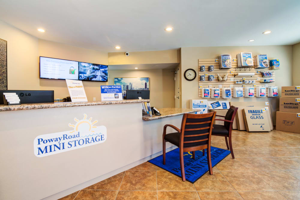 Leasing office at Poway Road Mini Storage
