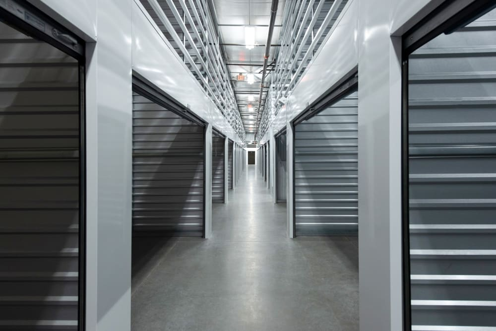 Interior hallway at Silverhawk Self Storage