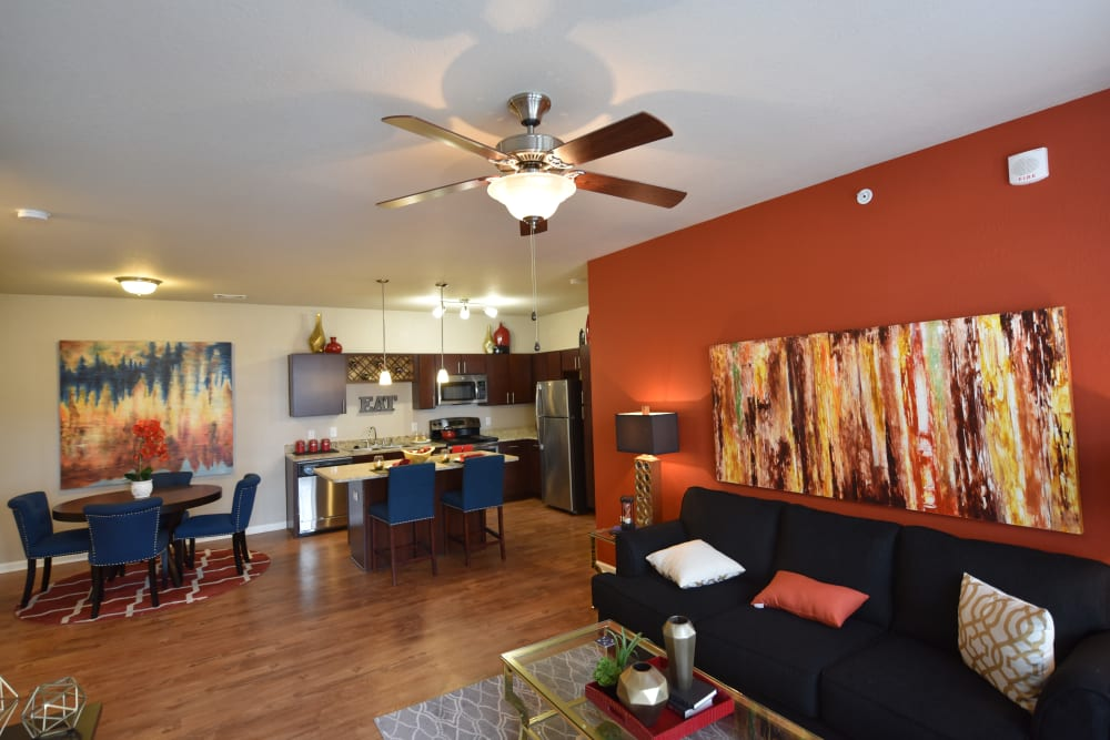 Open concept floor plans at Springs at Liberty Township Apartments in Liberty Township