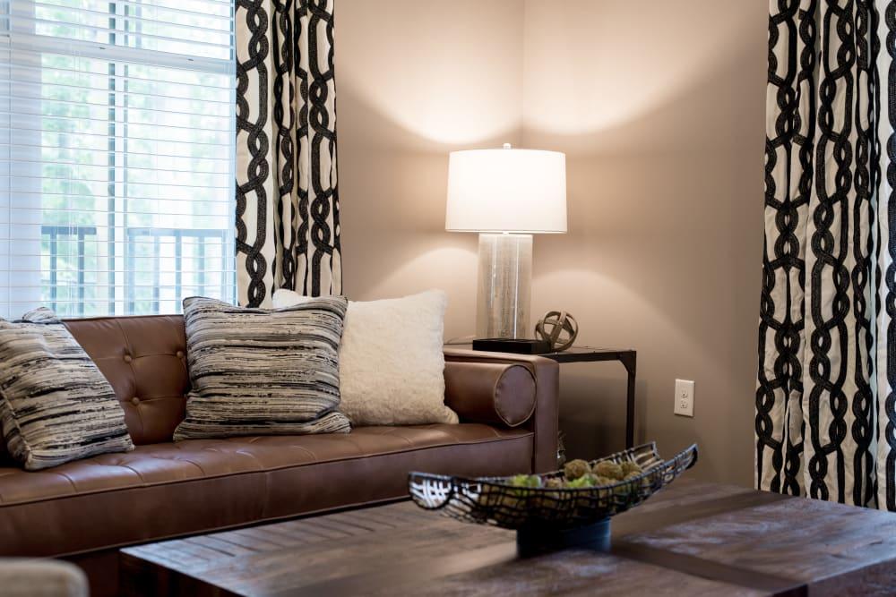 Living room at Lodge at Croasdaile Farm in Durham, North Carolina