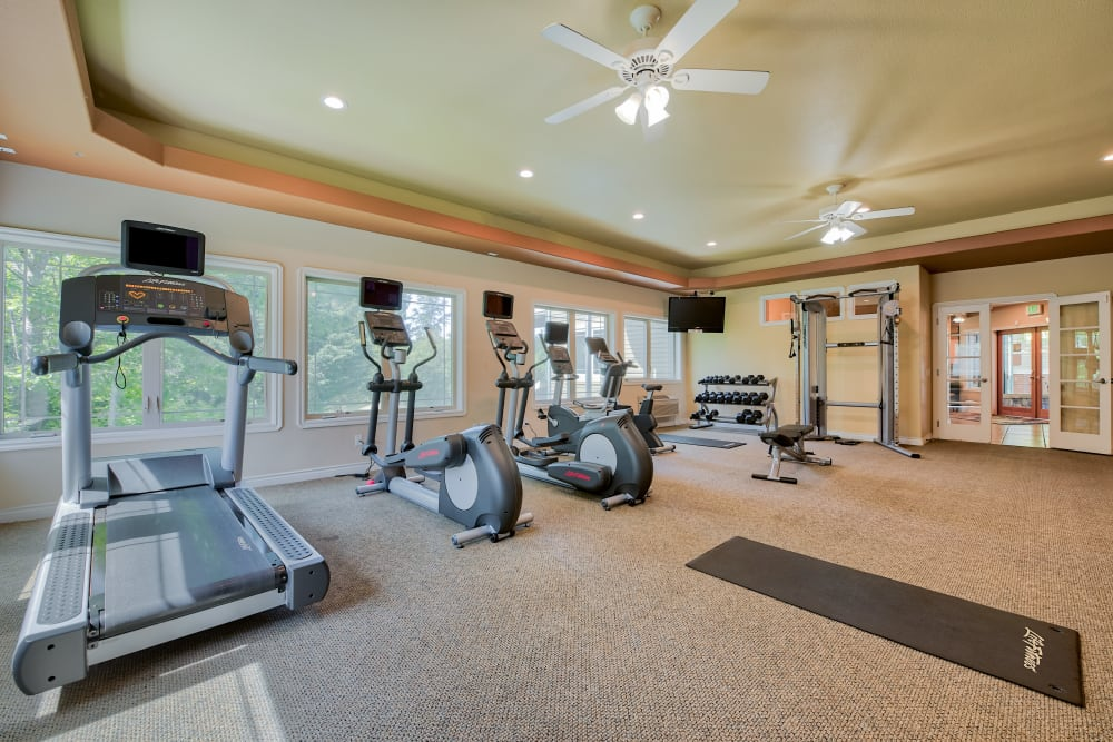 Fitness Center at Aravia Apartments in Tacoma, Washington