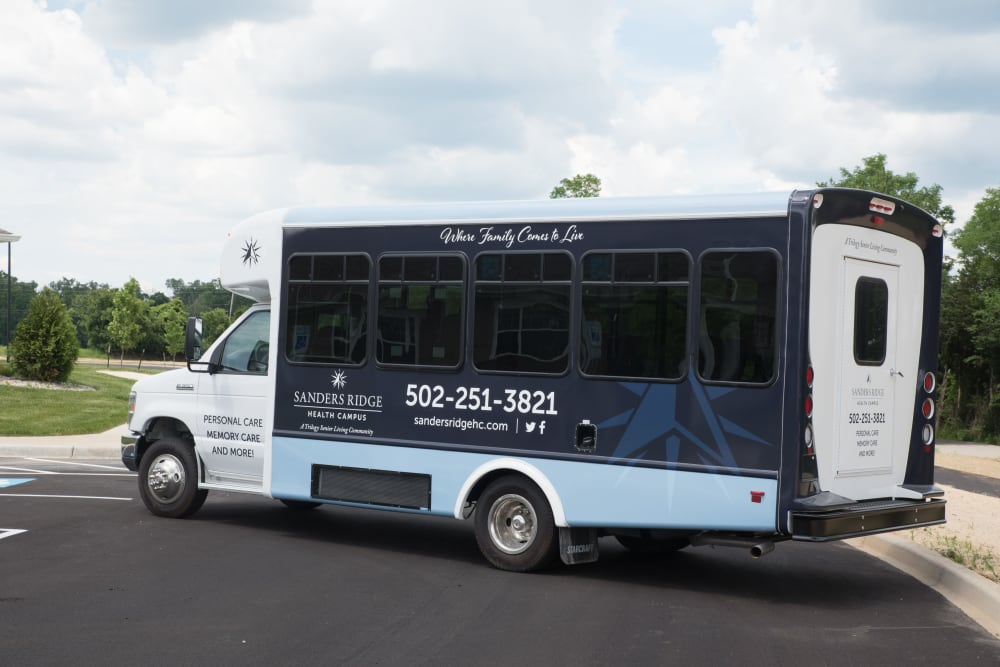 Community Bus at Sanders Ridge Health Campus