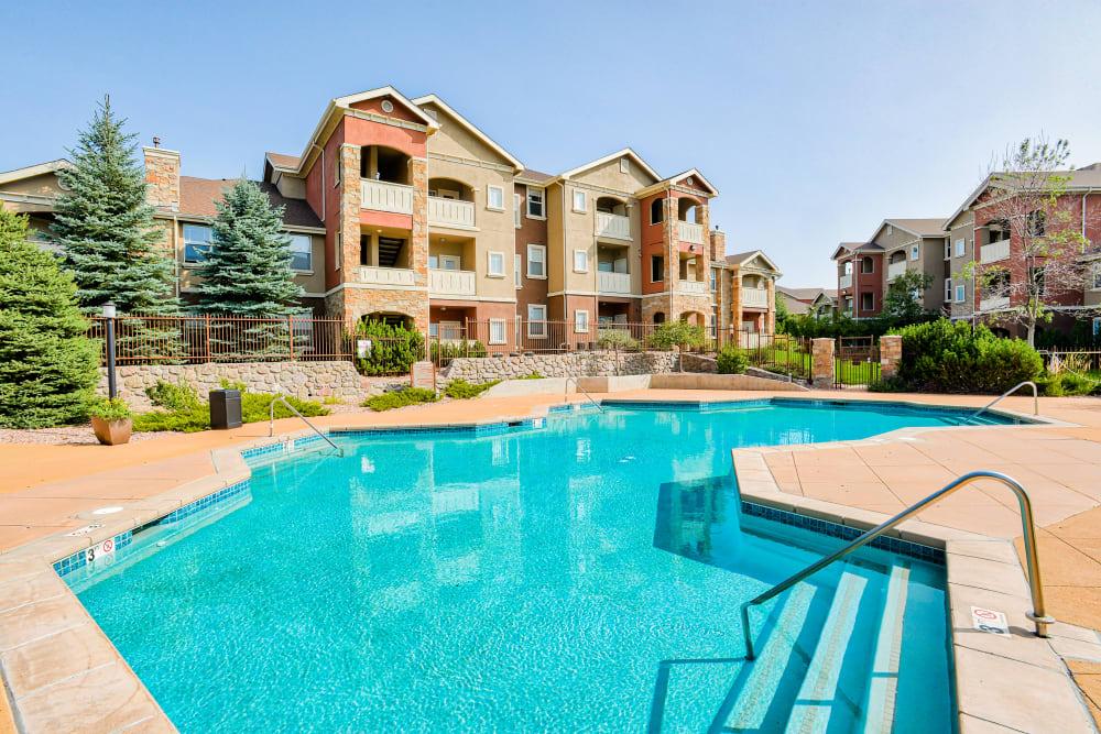 Swimming Pool at Bella Springs Apartments in Colorado Springs, Colorado