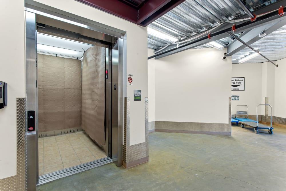 Elevator at My Neighborhood Storage Center in Raleigh, North Carolina