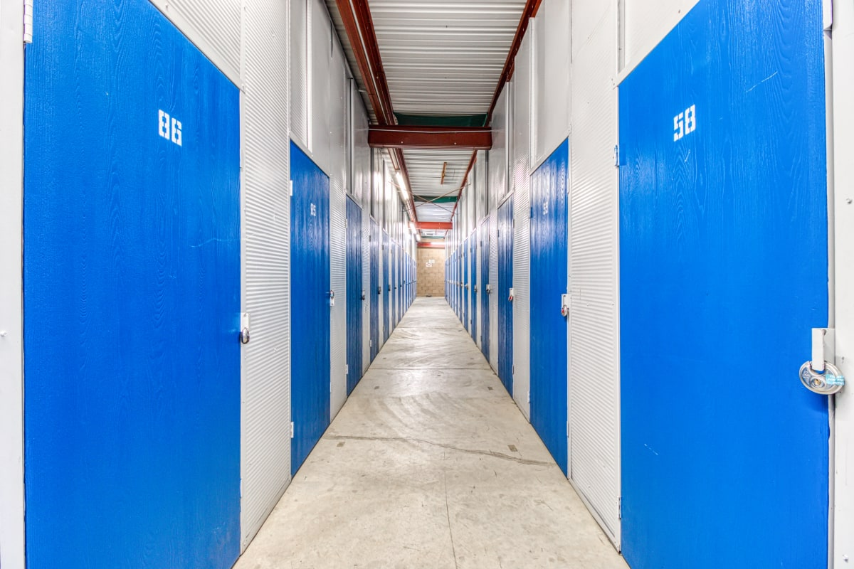 Climate-controlled storage units at Devon Self Storage in Fort Worth, Texas