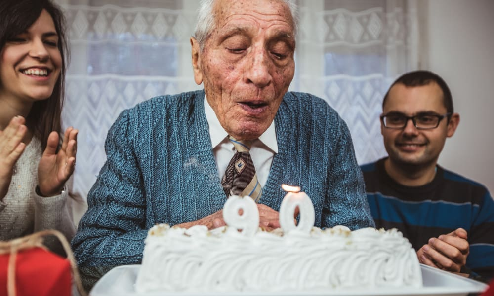Resident celebrating their 90th birthday at Randall Residence of Decatur in Decatur, Illinois